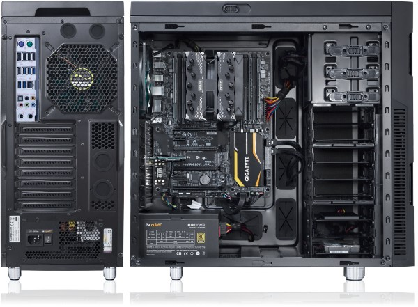 Serenity Wavestation - DS1 rear and side internal views (previous motherboard)