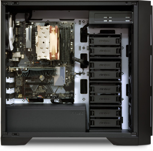 Internal image, shown with NH-U12S CPU cooler, GT1030 GPU on previous generation motherboard